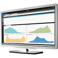 Searchlight software in a monitor