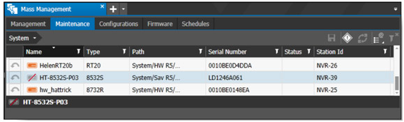 The Command software user interface shows the Mass Management tab