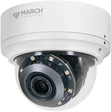 A March Networks SE2 Outdoor IR Dome surveillance camera
