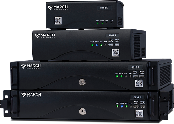 March Networks 8000 Series Hybrid NVR family of recorders