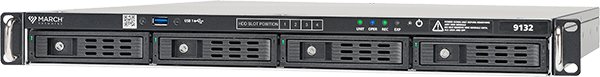 the 9132 IP Recorder for high capacity video surveillance recording