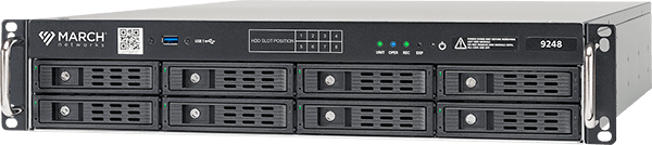 the 9248 IP Recorder for high capacity video surveillance recording