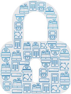 A graphic of a lock