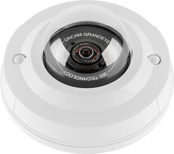 A white Evolution 5 mini Oncam 360-degree camera.
