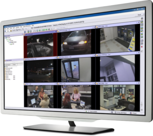 A computer displays March Networks video surveillance images