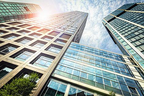 Large skyscraper buildings