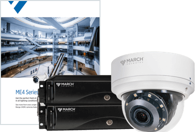 a brochure, network recorder and security camera