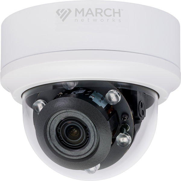 the ME4 IR MicDome IP camera on a surface mount