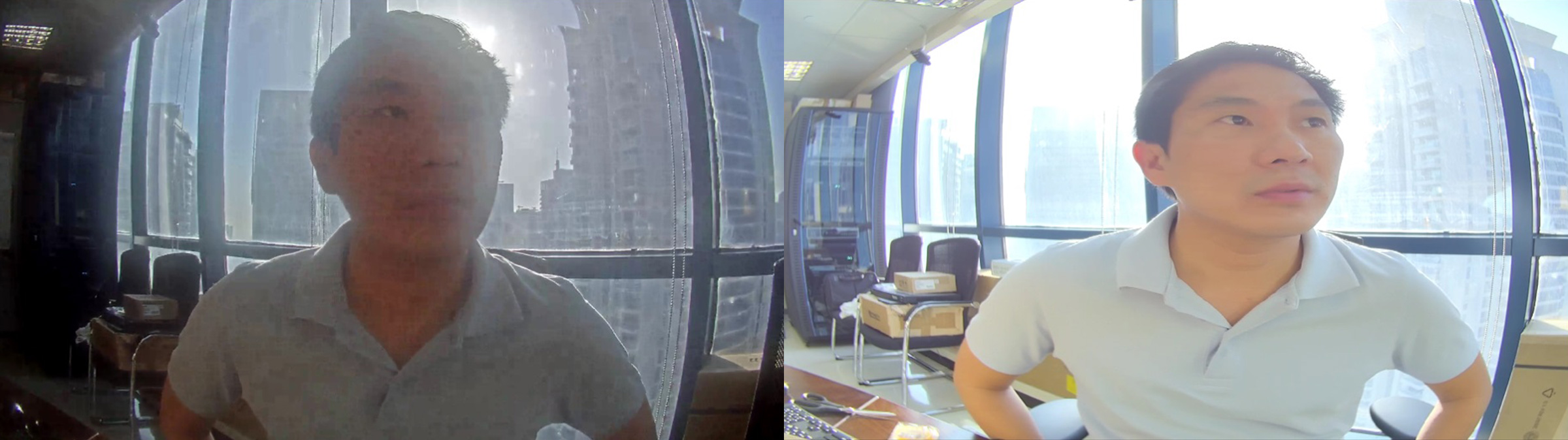 A surveillance image from a competitor's ATM camera compared to March Networks MegaPX ATM Camera.