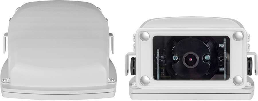the front and back of the Mobile HDR Wedge Camera for mobile video surveillance