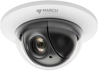 the flush mount PTZ cameras from March Networks