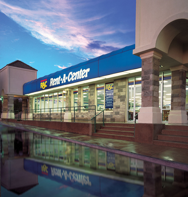 The outside of a Rent-A-Center location. Rent-A-Center uses March Networks video surveillance.