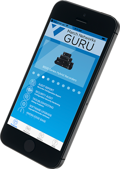 March Networks GURU Smartphone app