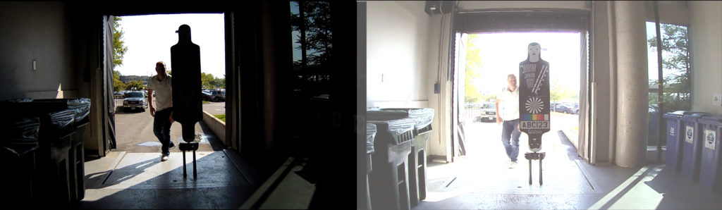 Two surveillance images side by side