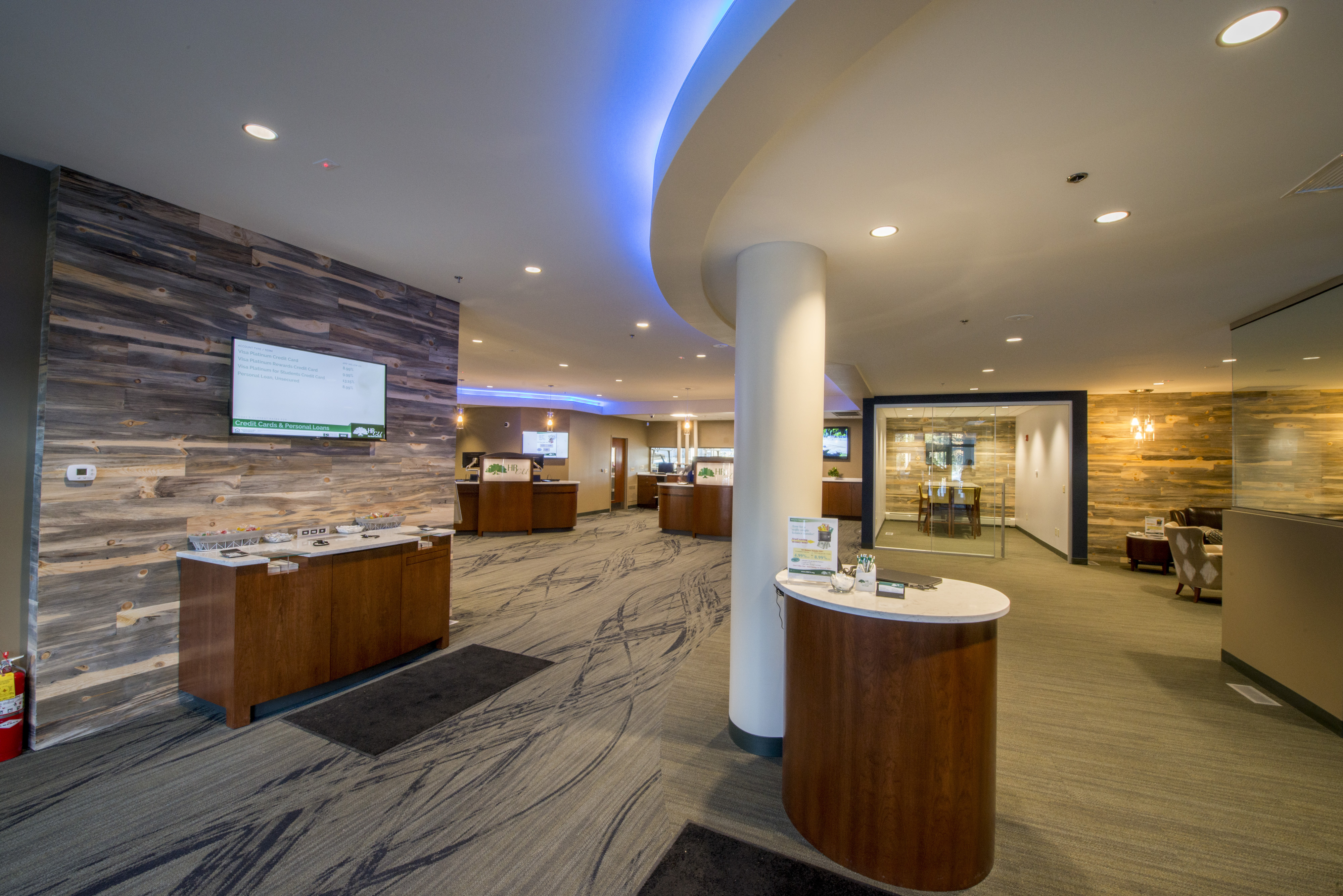Inside lobby view of Holy Rosary Credit Union