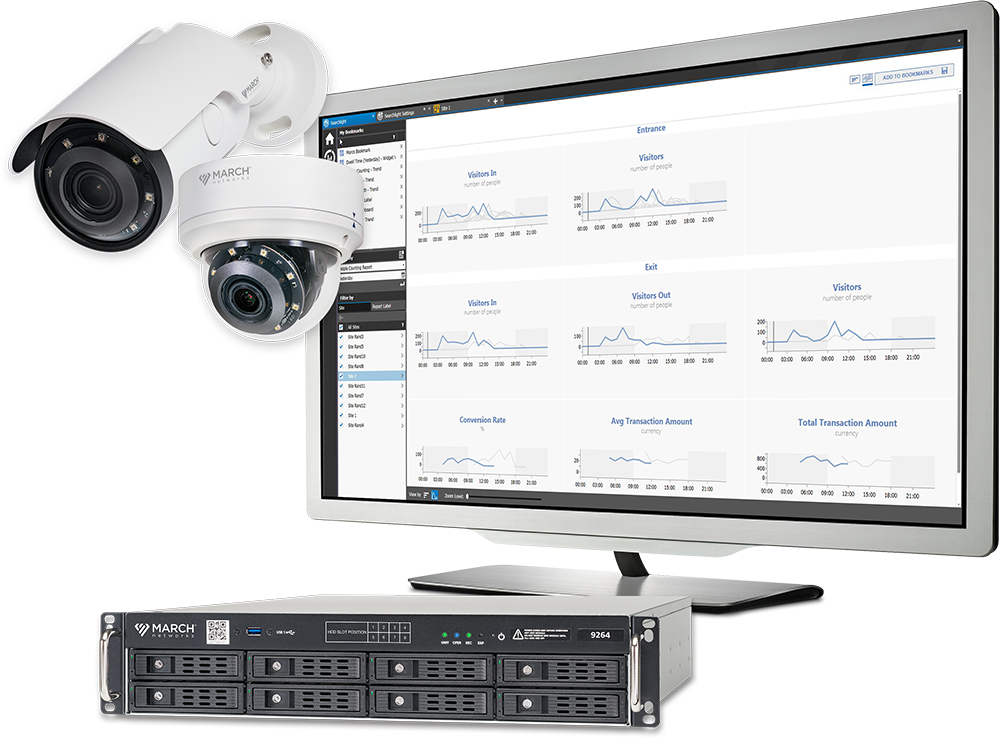 March Networks ME6 Series cameras, Searchlight for Retail software and 9000 series network video recorder