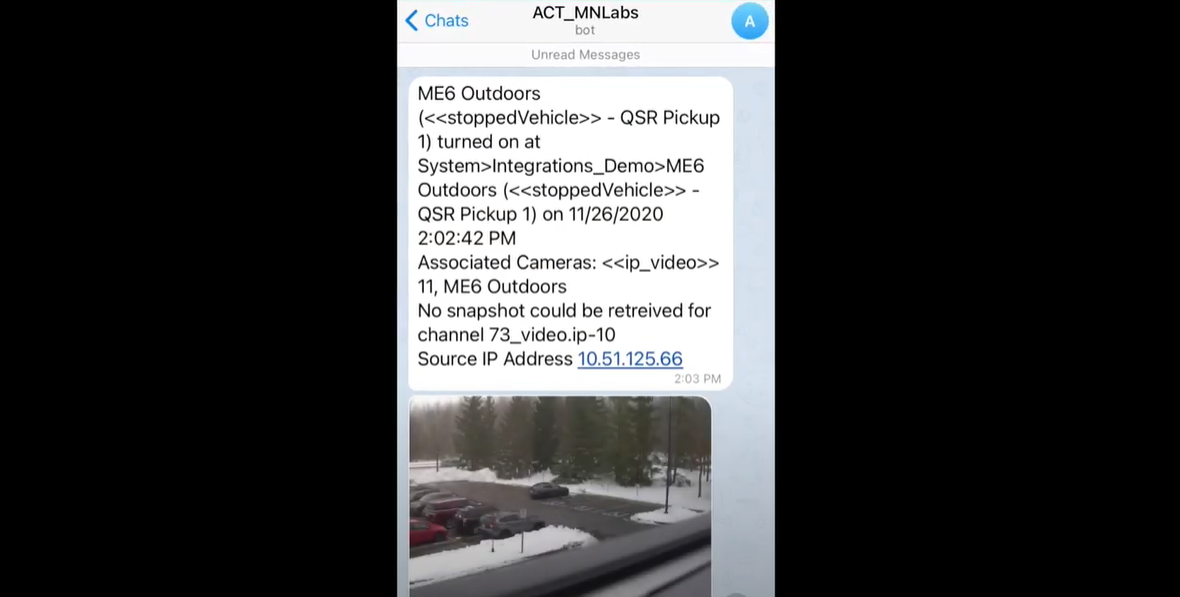 view of act on mobile