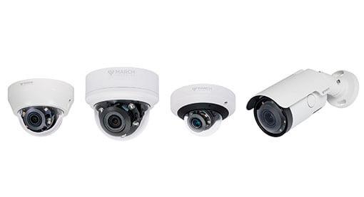 4 VA Series IP cameras side by side