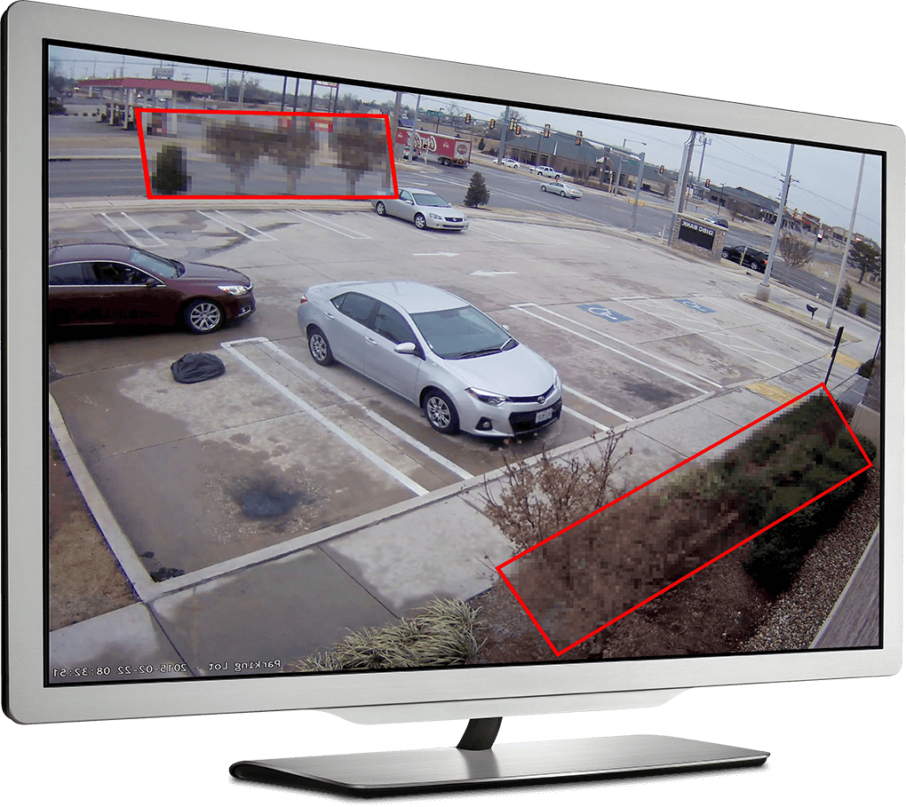 an image of the monitor displays a car on the parking